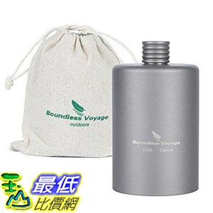 【日本代購】Boundless Voyage 手機用超輕小酒壺 高品質鈦鋼水杯便攜式燒瓶200ml