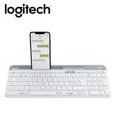 【Logitech 羅技】K580 超薄跨平台藍牙鍵盤 珍珠白 【贈可愛防蚊夾】