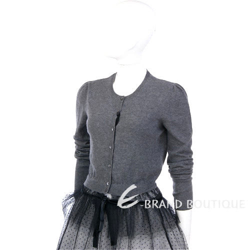 VALENTINO 深灰色拼接蕾絲下襬上衣 1230426-06