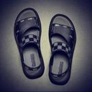 开车穿的凉鞋 男士拖鞋新款潮流室外防滑韓版涼拖個性夏季外穿網紅皮涼鞋男