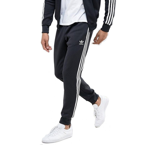 Adidas Originals 黑色 男款 愛迪達 運動褲 三葉草 縮口褲 棉褲 運動 休閒 慢跑 長褲 CW1275