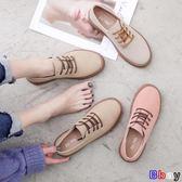 [貝貝居] 豆豆鞋 英倫風小皮鞋女韓版百搭平底休閒復古單鞋