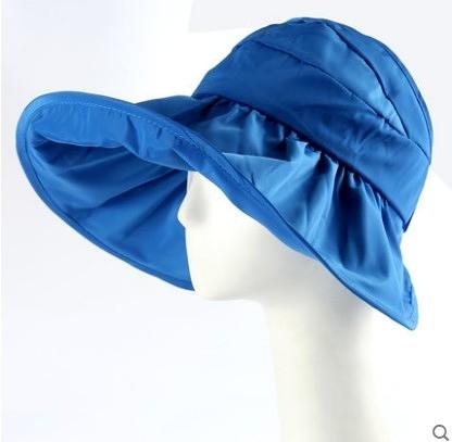 [協貿國際]韓國可折疊涼帽遮陽帽防曬帽子藍色