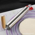 擀麵杖 歐樂多搟面杖304不銹鋼檊趕面棍家用大號滾軸搟面棍搟餃子皮神器 星河光年