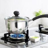 304不銹鋼奶鍋不粘鍋牛奶鍋小奶鍋寶寶加厚熱奶鍋電磁爐通用【聖誕節快速出貨八折】
