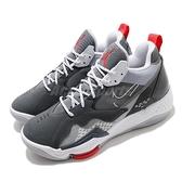 Nike 籃球鞋 Jordan Zoom 92 灰 白 男鞋 氣墊設計 合體鞋款 運動鞋 【ACS】 CK9183-005