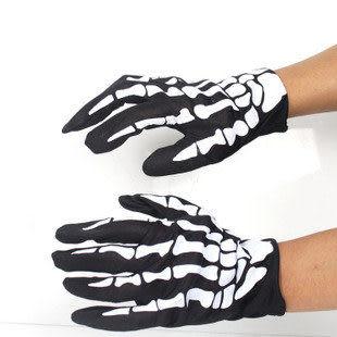 萬聖節用品 恐怖手套 鷹爪  印刷款骷髏