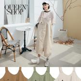 Queen Shop【03060203】造型假口袋寬版吊帶裙 三色售*現+預*