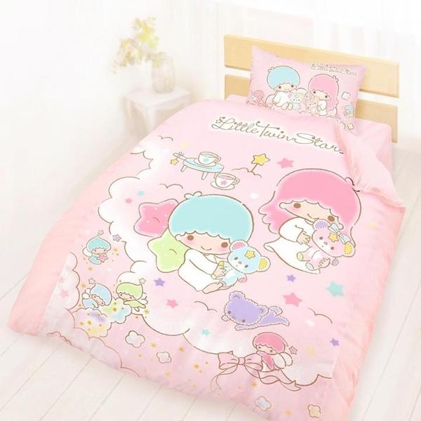 100% 純棉單人兩用床包被套3件組 - 雙星仙子 小熊扮家家