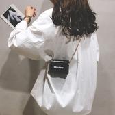 斜背包 迷你小包包女2019新款潮流百搭小方包漆皮亮面mini單肩鏈條斜挎包 快速出貨