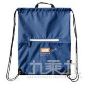 【九乘九購物網】手作之皮標束口後背包-藍 SBG-237C