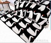 韓式ins天鵝珊瑚絨雙層水貂絨毛毯秋冬空調午睡蓋毯子單雙人床單