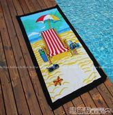沙灘墊 沙灘毛巾墊泳池游泳吸水成人運動旅游舒適柔軟卡通浴巾男女igo 瑪麗蘇