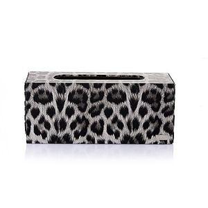 【Finara 費納拉】雲豹灰色-桌上型擦手紙巾專用盒/面紙盒