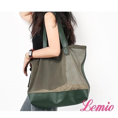 【Lemio】LD系列訂製尼龍網帶子母單肩包(軍綠)