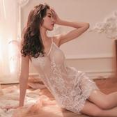 性感情趣內衣透明蕾絲睡衣激情套裝透視裝露毛騷挑逗睡裙誘惑小胸