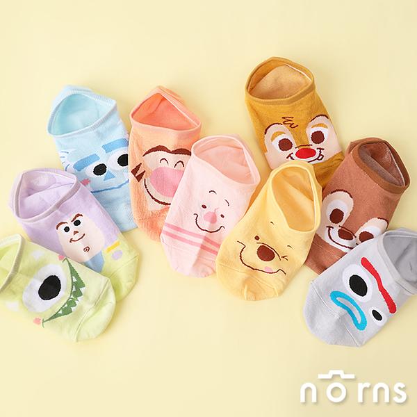 矽膠止滑隱形襪v4淡彩- Norns 迪士尼正版 玩具總動員 維尼 奇奇蒂蒂 怪獸大學 奇奇蒂蒂