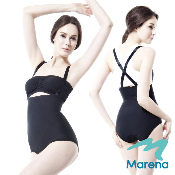 【美國原裝MARENA】腹部加強 抗菌美體塑身衣(肩帶可拆)