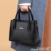 女士包包 中年婦女包包軟皮女士2021新款上班包雙層大氣媽媽百搭斜背手提包 小天使 99免運