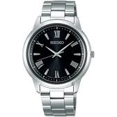 SEIKO精工SPIRIT 太陽能日系時尚手錶-黑x銀/38.8mm V131-0AG0D(SBPL011J)