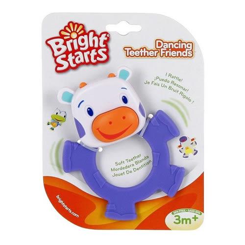 美國kids II-Bright Starts-幼兒奶牛牙膠 兒童固齒器 搖鈴