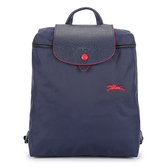 Longchamp 1699 LE PLIAGE 奔馬刺繡折疊尼龍後背包(海軍藍)480210-556