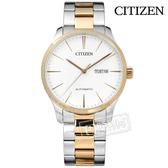 CITIZEN 星辰表 / NH8356-87A / 自動上鍊 日期星期 日本機芯  機械錶 不鏽鋼手錶 白x鍍香檳金 40mm
