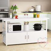 多功能家用微波爐廚房置物架落地多層收納灶台碗櫃切菜桌子操作台xw 快速出貨