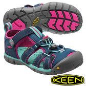 Keen Seacamp II CNX 兒童護趾水陸兩用鞋 深藍/粉藍 1014127