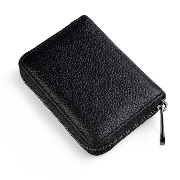 證件包 頭層皮質卡包皮質信用卡套拉鍊卡夾女多卡位小卡片包證件卡包【限時八五鉅惠】