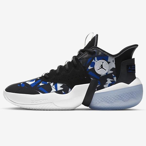 NIKE Jordan React Elevation PF 男鞋 籃球 靈敏 緩震 抓地力 橡膠 黑藍【運動世界】CK6617-004