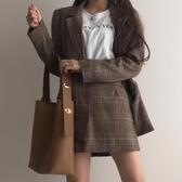 水桶包 水桶包水桶包女新款韓版大容量簡約子母包時尚pu軟皮休閒單肩大包包 果寶時尚