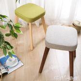 椅子餐椅現代簡約懶人凳子休閒椅家用實木餐椅北歐書桌椅創意木椅 潔思米 IGO