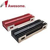 Awesome M.2 SSD NGFF 2280散熱片(紅or黑)  AWD-MCS01