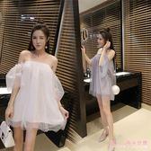 夏季新款一字肩洋裝抹胸裙子夜店女裝性感連身裙 DR16634【Rose中大尺碼】