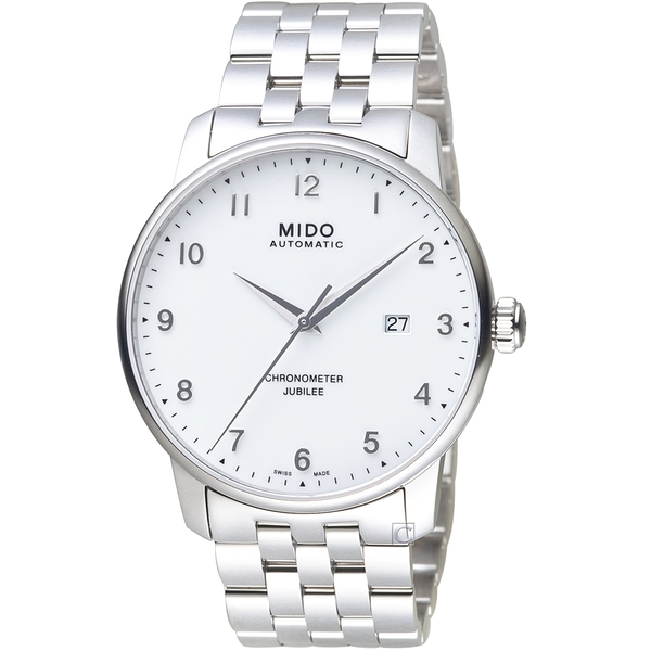 MIDO美度BARONCELLI JUBILEE天文台經典機械錶  M0376081101200 銀白