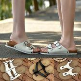 情侶軟木拖鞋男夏時尚潮沙灘涼拖夾腳防滑外穿休閒涼鞋男人字拖女 桃園百貨