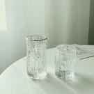 酒杯 風樹皮紋玻璃水杯女簡約清新森系小眾洋酒杯果汁杯牛奶杯【快速出貨八折鉅惠】