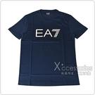 EMPORIO ARMANI印花白黑字LOGO純棉短袖T恤(S/M/L/XL/深藍)
