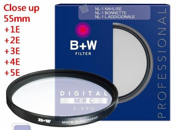 B+w F-Pro Close-up NL1+1E NL2+2E NL3+3E NL4+4E NL5+5E 近攝鏡 微距 55mm