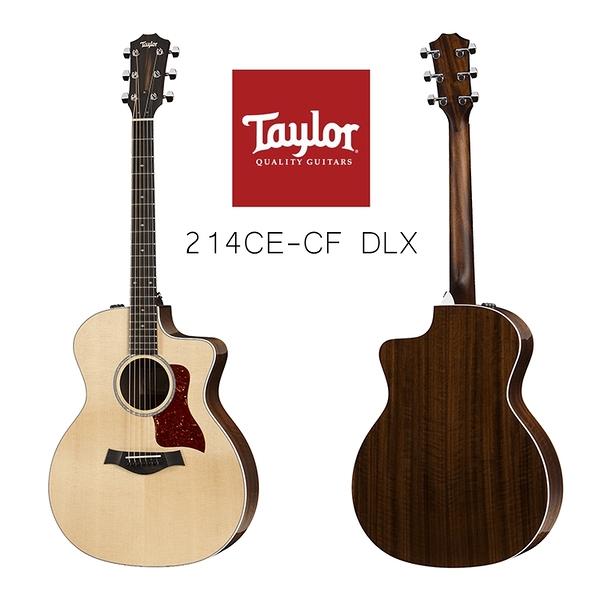 小叮噹的店-Taylor 214CE-CF DLX 雲杉木 面單 豪華版 電木吉他 附原廠硬盒 200系列 2系