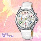 CASIO手錶專賣店 卡西歐 SHEEN SHE-3031L-7A 女錶 繽紛色彩指標 不鏽鋼錶殼 真皮錶帶