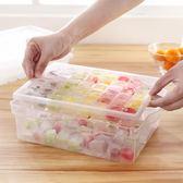 冰箱凍大冰塊冰格模具制冰盒帶蓋儲冰盒創意家用冰格硅膠雪糕模具    西城故事