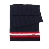 【BALLY】拚色純羊毛圍巾(藍/白/紅) 6199282