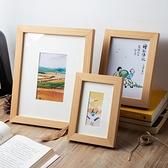 相框 實木質相框擺台5寸6寸7寸8寸10寸創意掛牆A4簡約畫框照片擺件像框【幸福小屋】