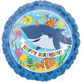 18吋鋁箔氣球(不含氣)-鯊魚