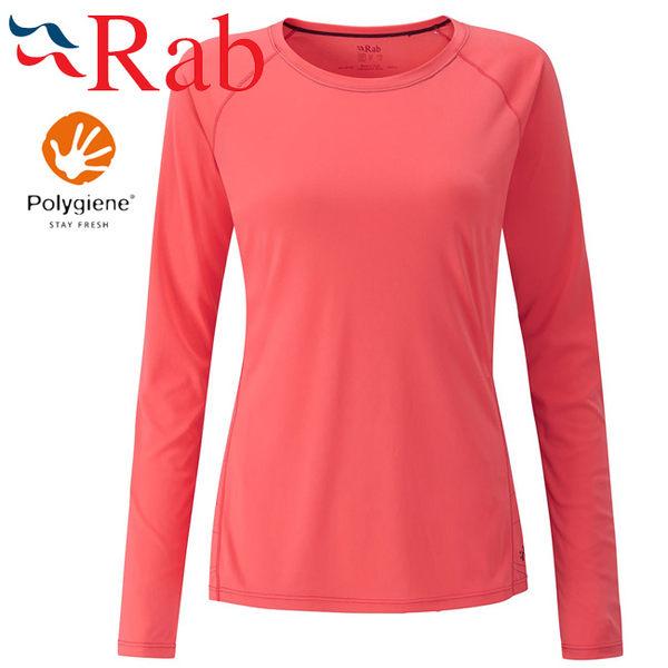 Rab 英國 QBU44-CL 珊瑚紅 女抗菌排汗長袖T恤