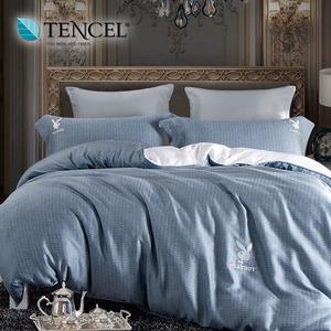 【貝兒居家寢飾生活館】PLAYBOY 100%萊賽爾天絲兩用被床包組(加大/瑪麗娜)