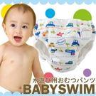 游泳尿布寶寶泳衣玩水尿布日本製BABY SWIM車車飛機圖案