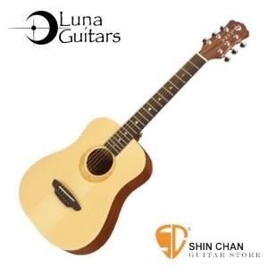 【美國品牌Luna Mini 】36吋小吉他 Muse Spruce 雲杉 (雲杉面板/桃花心木側背板)附贈原廠吉他袋